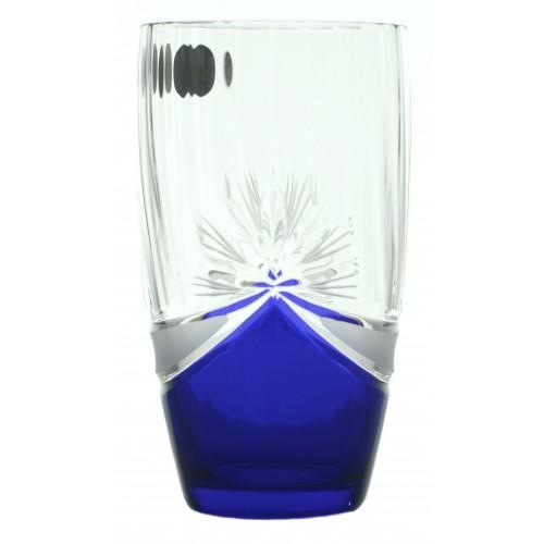 Zestaw Szklanka 6x, szkło bezbarwne - bezołowiowe, kolor niebieski, objętość 350 ml