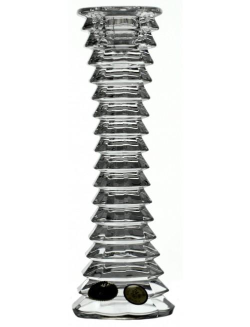 Świecznik Blade, szkło kryształowe bezbarwne, wysokość 180 mm