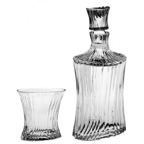 Zestaw do Whisky Orcan 1+6, szkło kryształowe bezbarwne