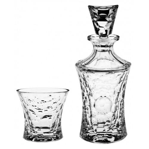 Zestaw do Whisky Molecules 1+6, szkło kryształowe bezbarwne