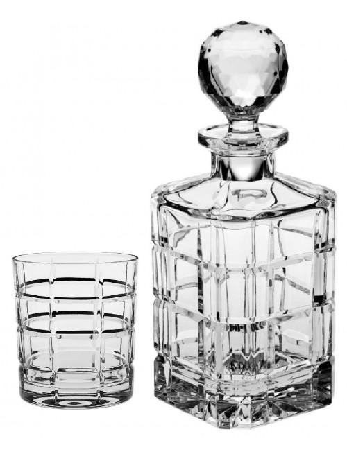 Zestaw do Whisky Timesquare 1+6, szkło kryształowe bezbarwne