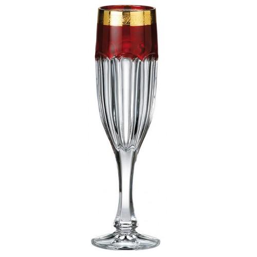 Zestaw Kieliszków do wina Safari Złoto 6x, Szkło bezołowiowe - crystalite, objętość 150 ml