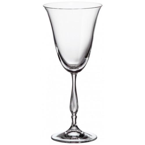 Zestaw kieliszków do wina Fregata 6x, szkło bezołowiowe - crystalite, objętość 250 ml