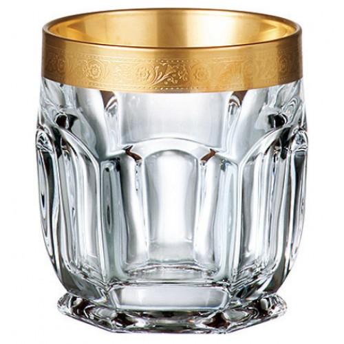Zestaw Szklanka Safari Złoto 6x, Szkło bezołowiowe - crystalite, objętość 250 ml