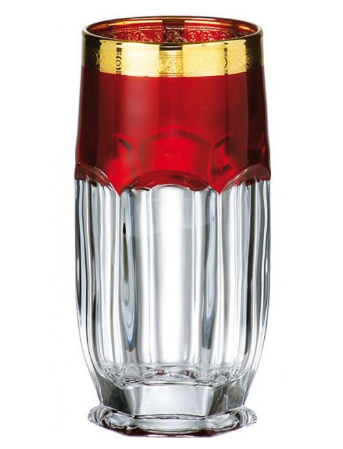 Zestaw Szklanka Safari Złoto 6x, Szkło bezołowiowe - crystalite, objętość 300 ml