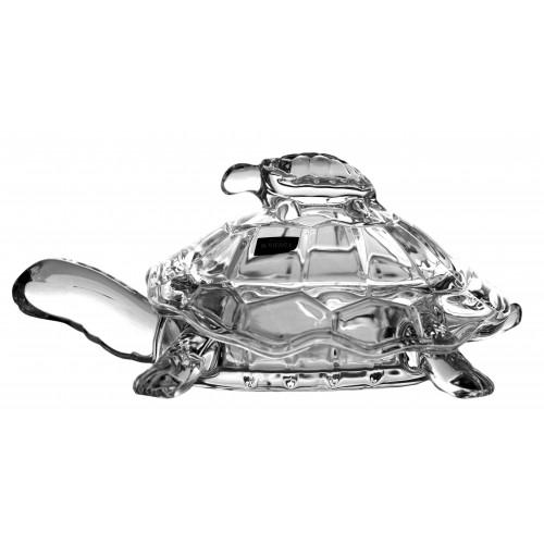 Bomboniera żółw, Szkło bezołowiowe - crystalite, średnica 265 mm