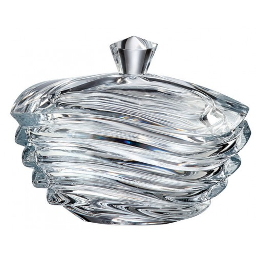 Bomboniera Wave, szkło bezołowiowe - crystalite, średnica 170 mm