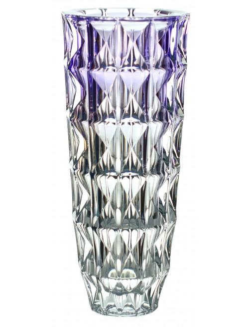 Wazon Diamond, szkło bezołowiowe - crystalite, kolor fioletowy, wysokość 330 mm