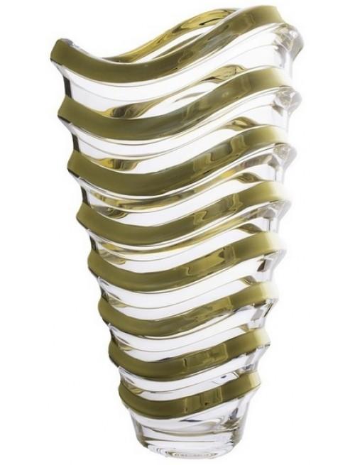 Wazon Wave złoto, Szkło bezołowiowe - crystalite, wysokość 340 mm