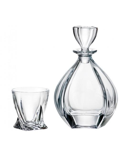 Zestaw do Whisky Laguna 1+6, szkło bezołowiowe
