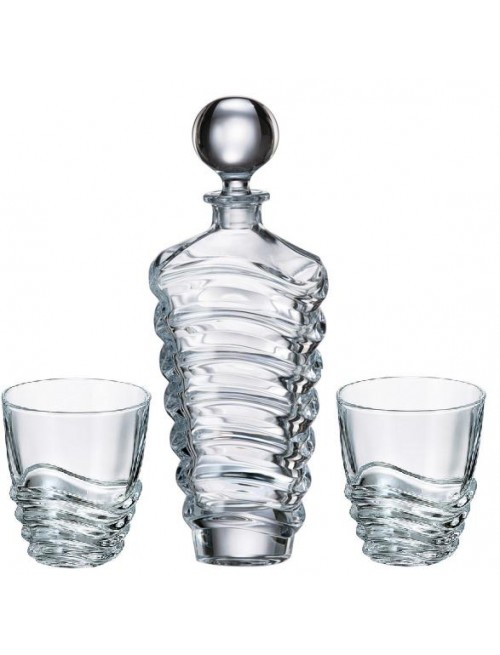 Zestaw do Whisky Wave 1+6, szkło bezołowiowe