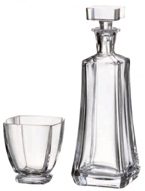 Zestaw do Whisky Arezzo 1+6, szkło bezołowiowe