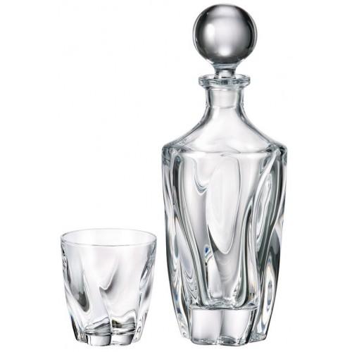 Zestaw do Whisky Barley 1+6, szkło bezołowiowe