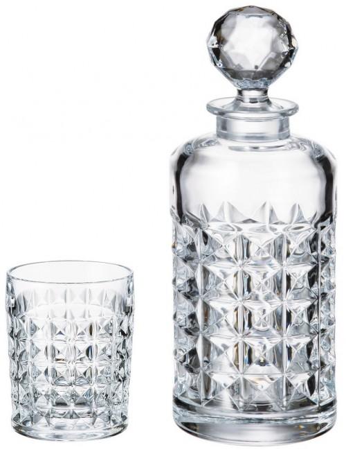 Zestaw do Whisky Diamond 1+6, szkło bezołowiowe