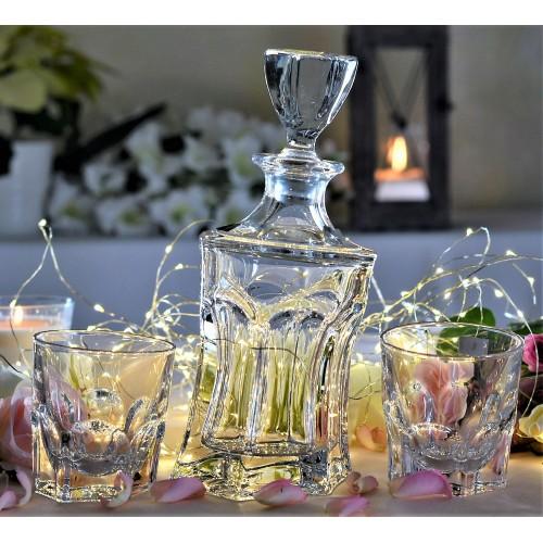 Zestaw do Whisky Acapulco 1+6, szkło bezołowiowe