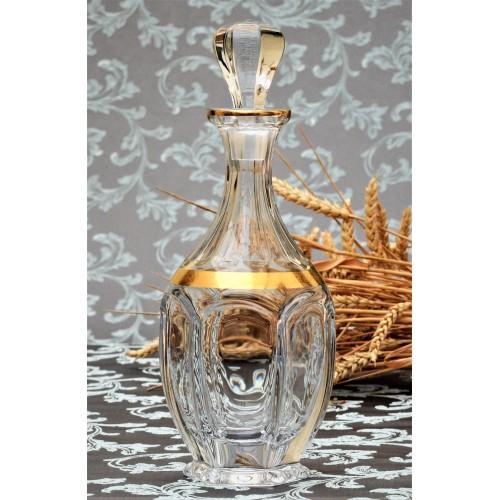Butelka Safari złoto, szkło bezołowiowe - crystalite, objętość 800 ml