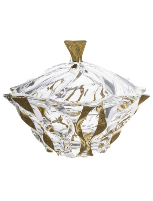Bomboniera Samba złoto, Szkło bezołowiowe - crystalite, średnica 210 mm