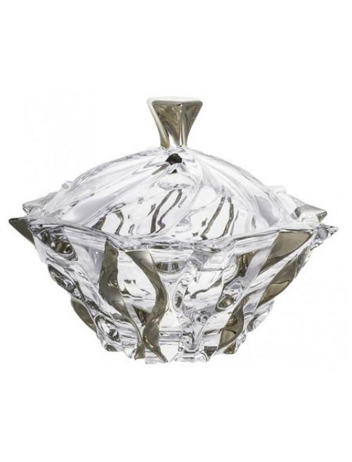 Bomboniera Samba platyna, Szkło bezołowiowe - crystalite, średnica 210 mm