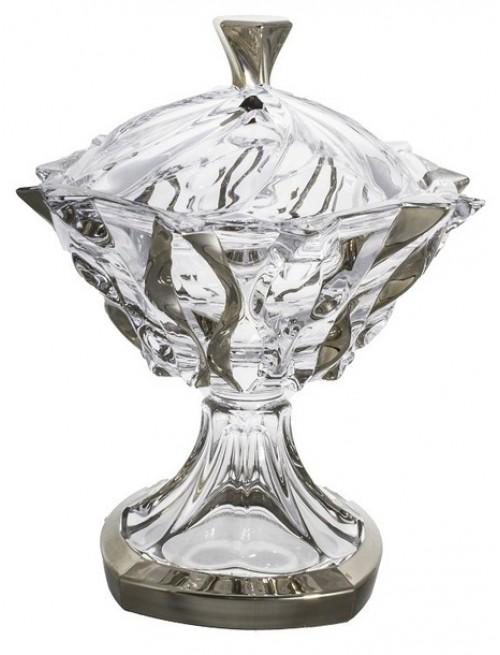 Bomboniera Samba platyna, Szkło bezołowiowe - crystalite, średnica 250 mm