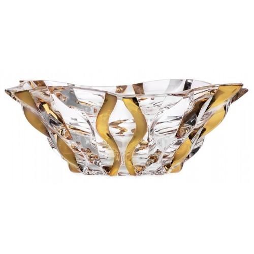 Półmisek Samba złoto, Szkło bezołowiowe - crystalite, średnica 305 mm