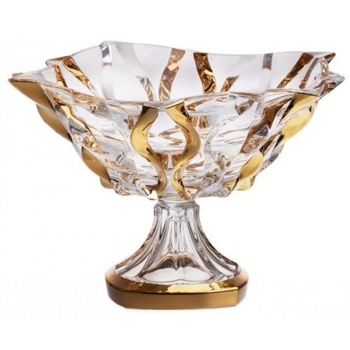 Patera Samba złoto, szkło bezołowiowe - crystalite, średnica 305 mm