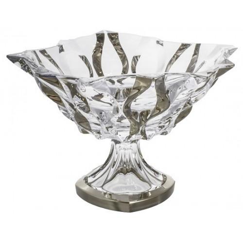 Patera Samba platyna, Szkło bezołowiowe - crystalite, średnica 305 mm