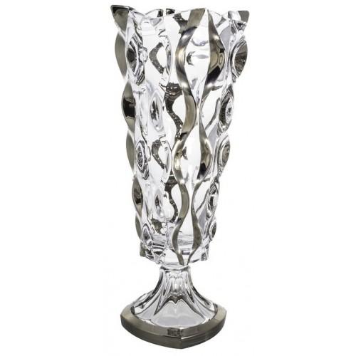 Wazon Samba platyna, Szkło bezołowiowe - crystalite, wysokość 405 mm