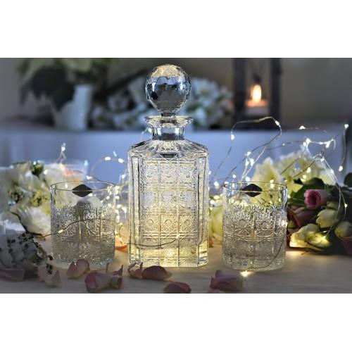 Zestaw Whisky 1+6, szkło kryształowe bezbarwne, objętość 800 ml + 320 ml
