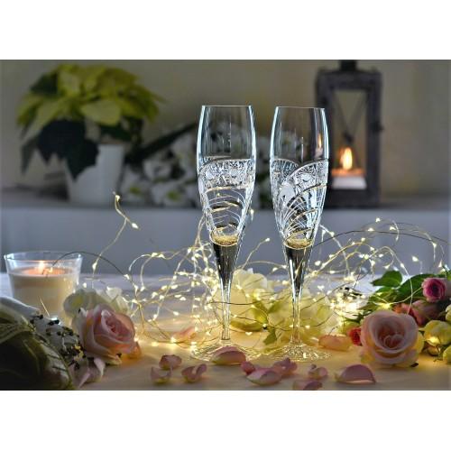Kieliszek do wina Kometa, szkło kryształowe bezbarwne, objętość 200 ml