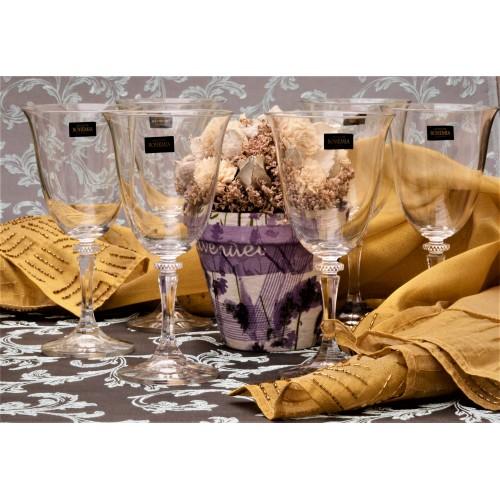 Zestaw kieliszków do wina 6x, szkło bezołowiowe - crystalite, objętość 360 ml