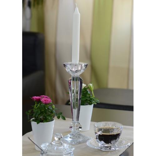 Świecznik Olimp, szkło bezołowiowe - crystalite, wysokość 210 mm