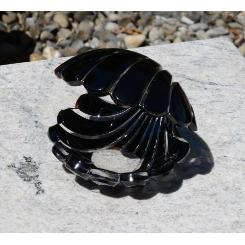 Muszla, kolor czarny, wysokość 140 mm