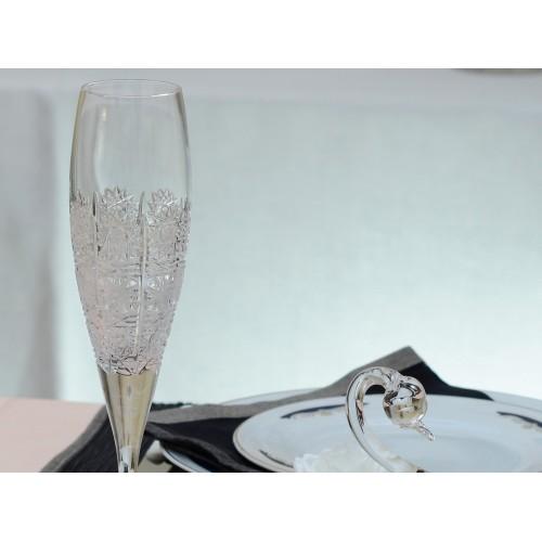 Lampka Fiona, szkło kryształowe bezbarwne, objętość 200 ml