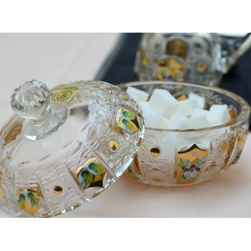 Zestaw 500K Złoto, szkło kryształowe bezbarwne