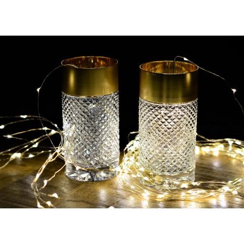 Szklanka Złoto mat, szkło kryształowe bezbarwne, objętość 350 ml