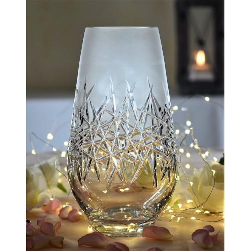 Wazon Szron, szkło kryształowe bezbarwne, wysokość 255 mm