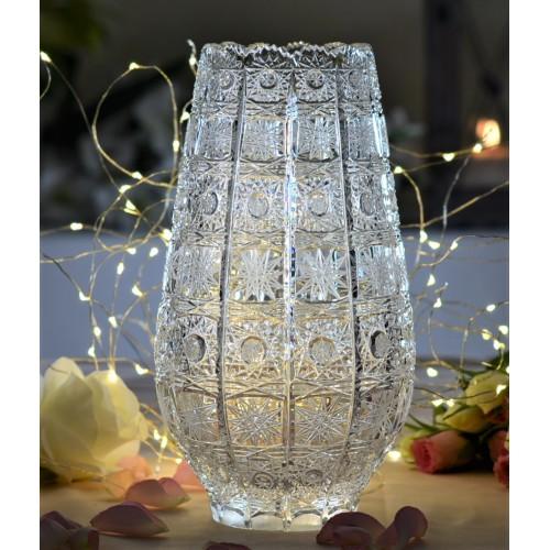 Wazon 500PK, szkło kryształowe bezbarwne, wysokość 255 mm