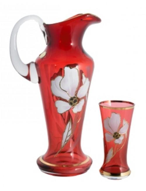 Zestaw Kwiat 1+6, kolor rubinowy