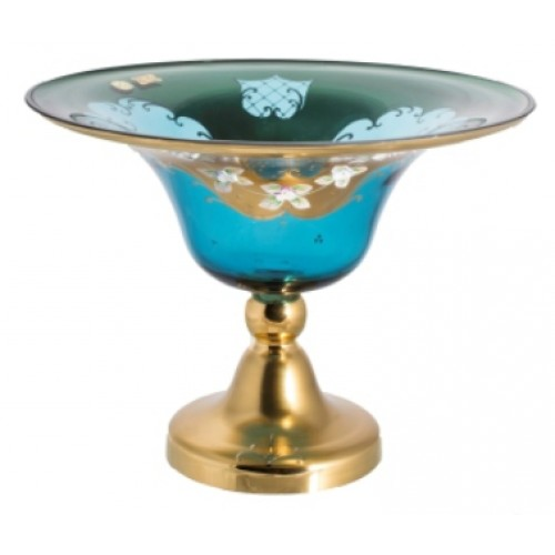 Patera Złoto II, kolor turkusowy, średnica 330 mm