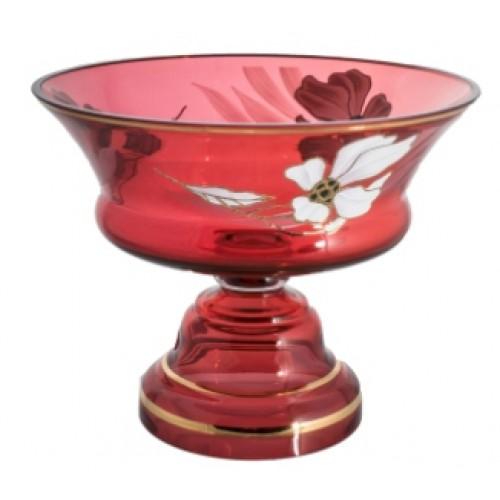 Patera Kwiat, kolor rubinowy, średnica 290 mm