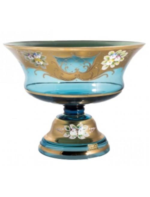 Patera Złoto, kolor turkusowy, średnica 260 mm