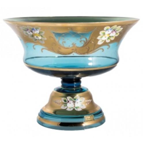 Patera Złoto, kolor turkusowy, średnica 290 mm