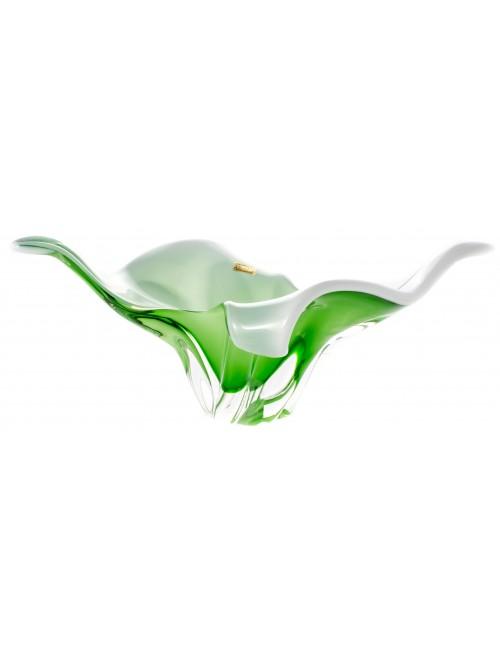 Półmisek szkło hutnicze, kolor zielony, średnica 430 mm