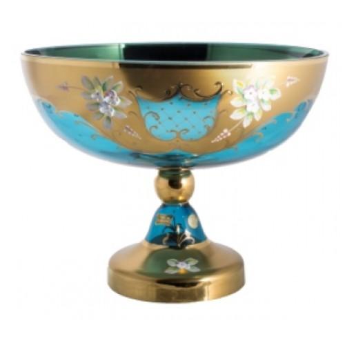 Patera Złoto, kolor turkusowy, średnica 330 mm