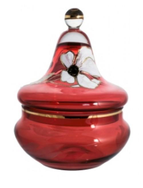 Bomboniera Kwiat, kolor rubinowy, wysokość 180 mm
