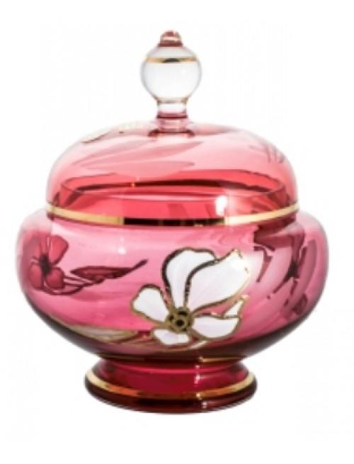Bomboniera Kwiat, kolor rubinowy, wysokość 175 mm