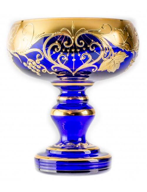 Patera Grape Złoto, kolor niebieski, średnica 150 mm