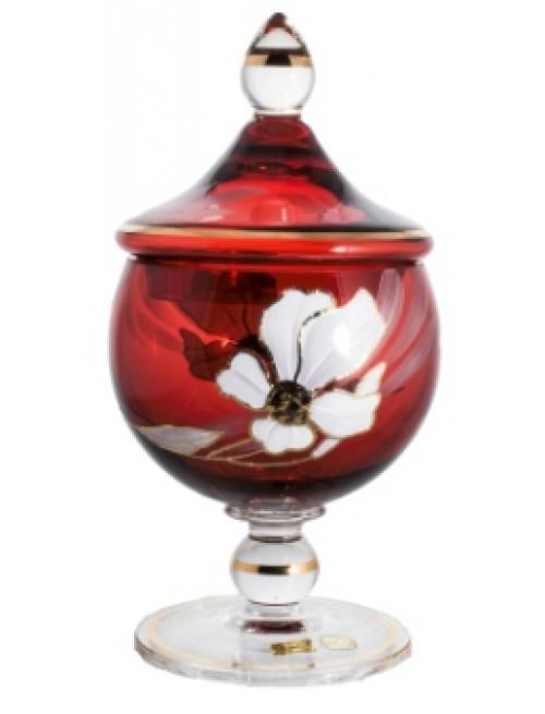 Bomboniera Kwiat, kolor rubinowy, wysokość 250 mm