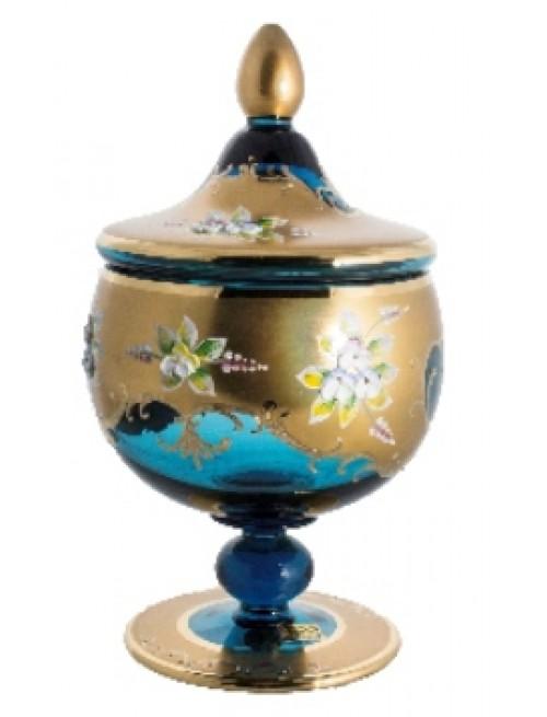 Bomboniera Złoto, kolor turkusowy, wysokość 250 mm