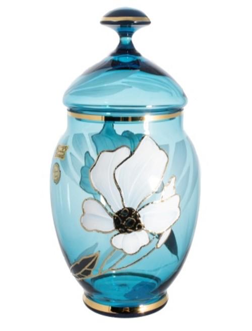 Bomboniera Kwiat, kolor turkusowy, wysokość 200 mm